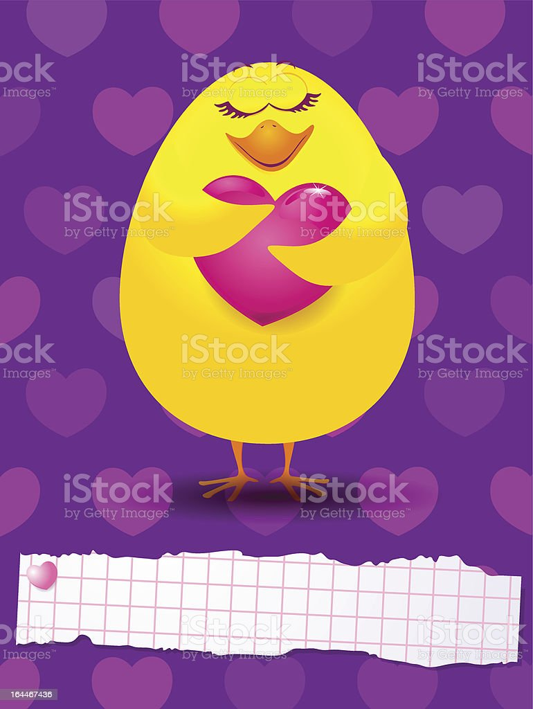 Chick in love royalty-free stock vector art
