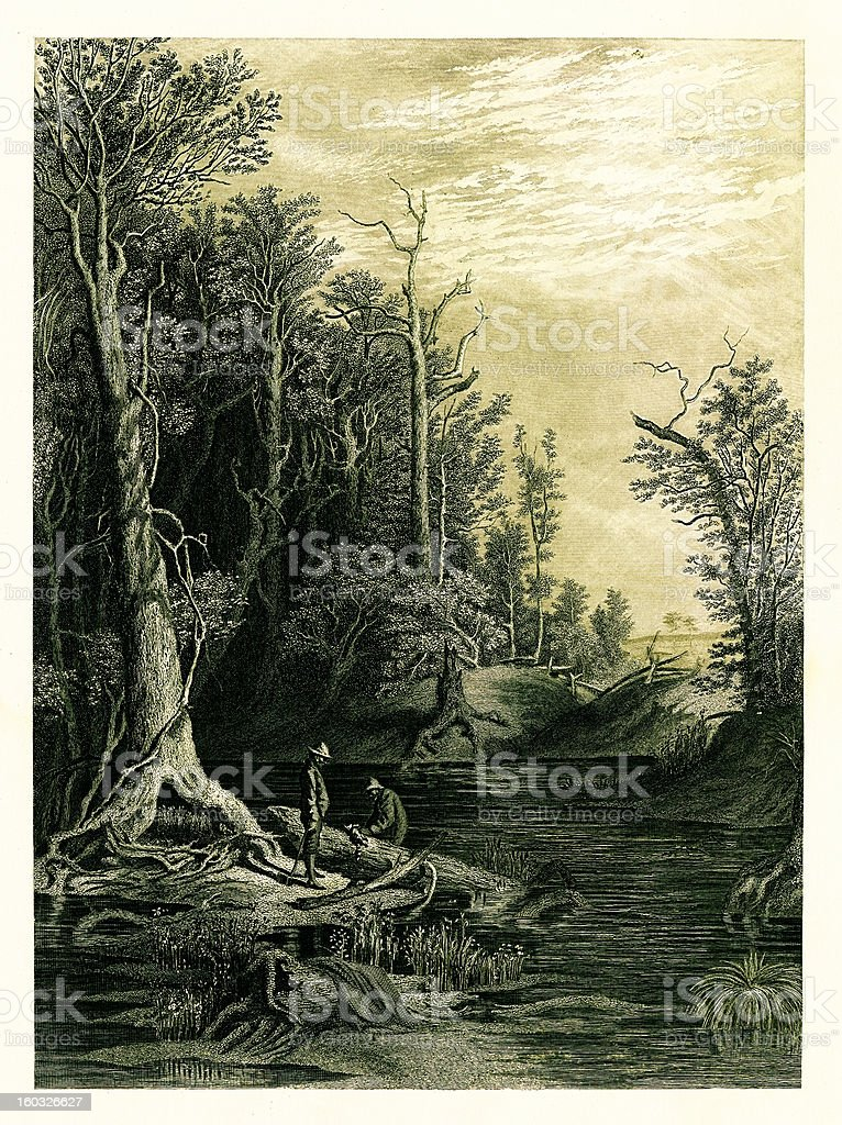 Chickahominy River, Virginia vector art illustration