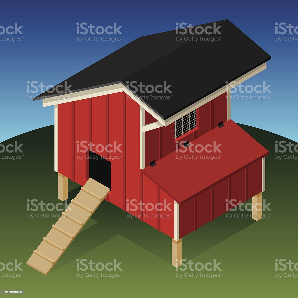 Chicken Coop vector art illustration