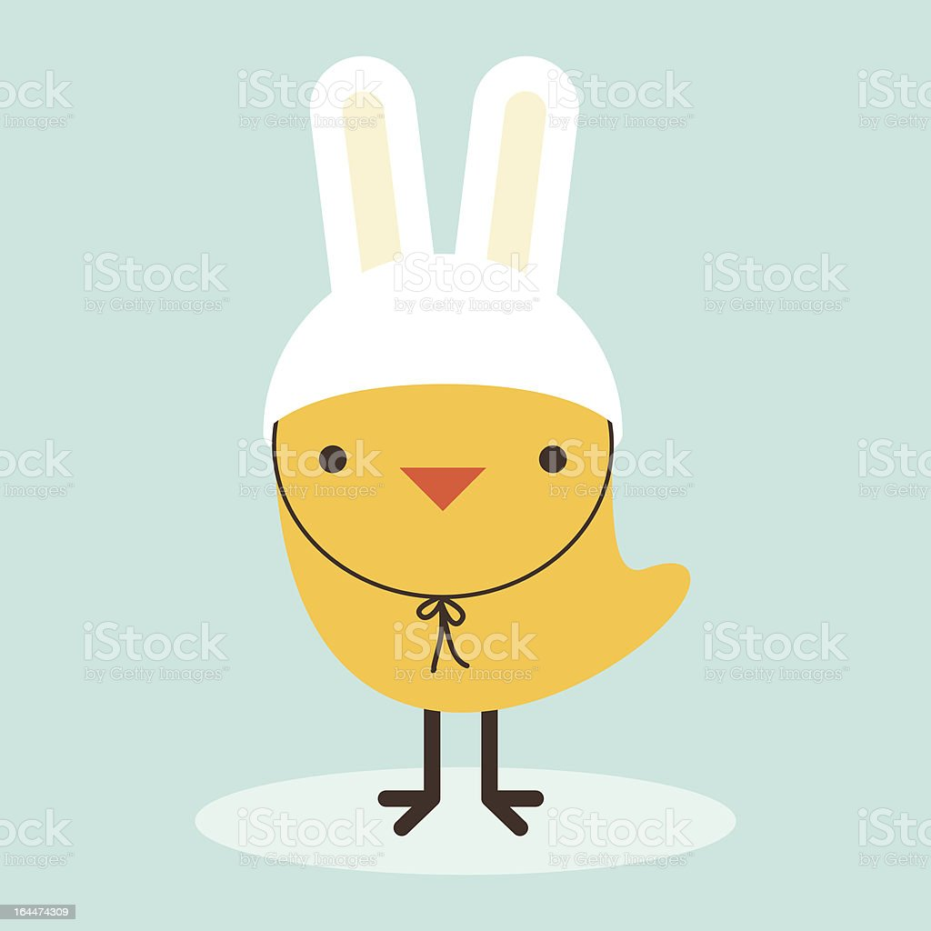 Chicken Rabbit vector art illustration