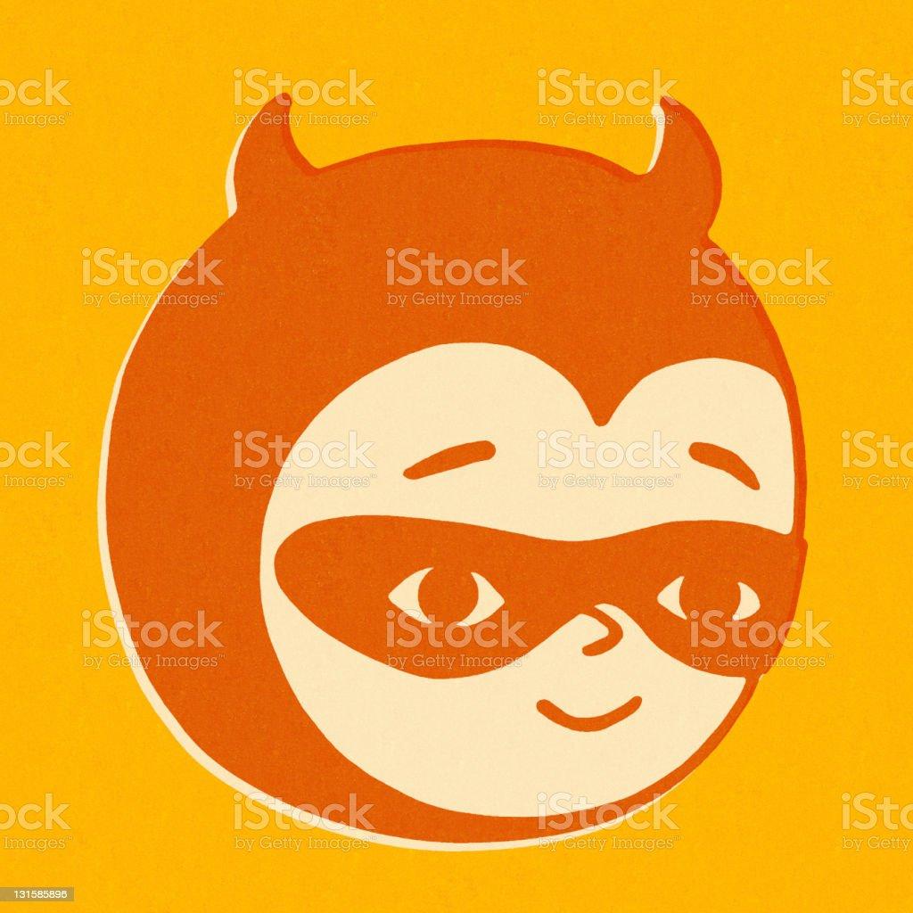 Child Wearing Devil Costume royalty-free stock vector art