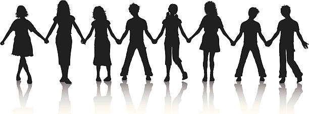 People Holding Hands Clipart