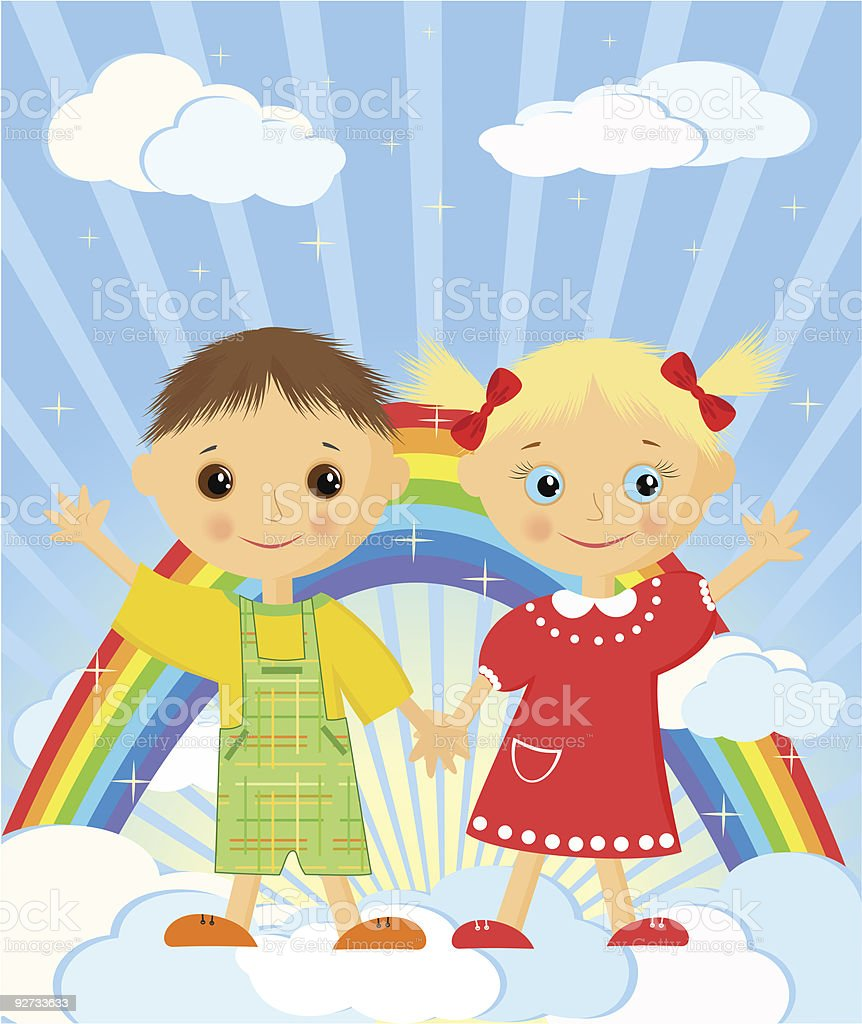 Children's dreams. royalty-free stock vector art