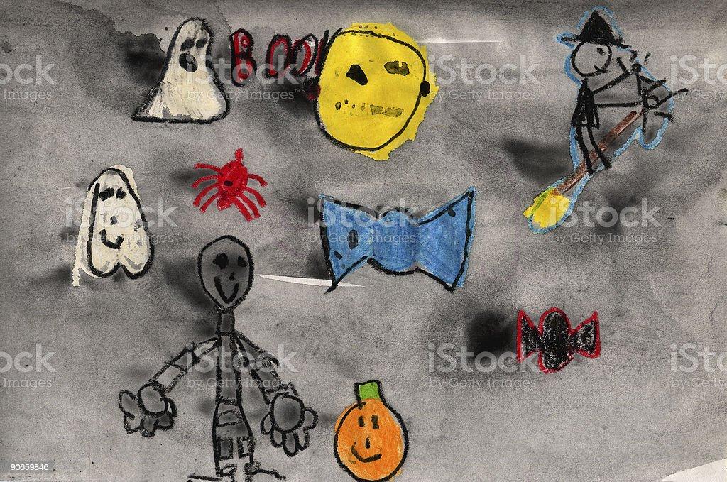 Children's Halloween Characters royalty-free stock vector art