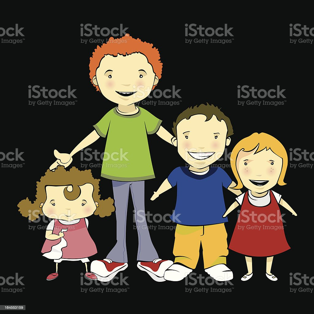 Childrens vector art illustration