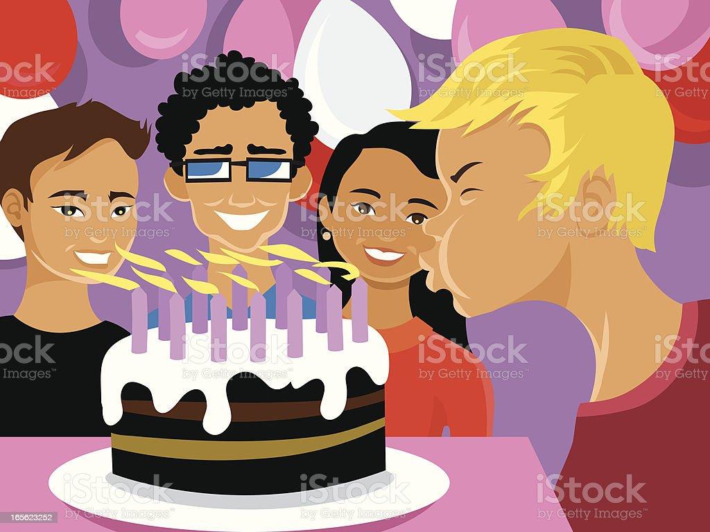 Child's Birthday vector art illustration