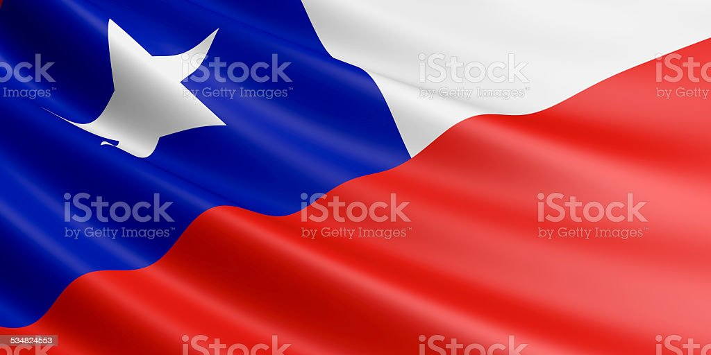 Chile flag. royalty-free stock vector art