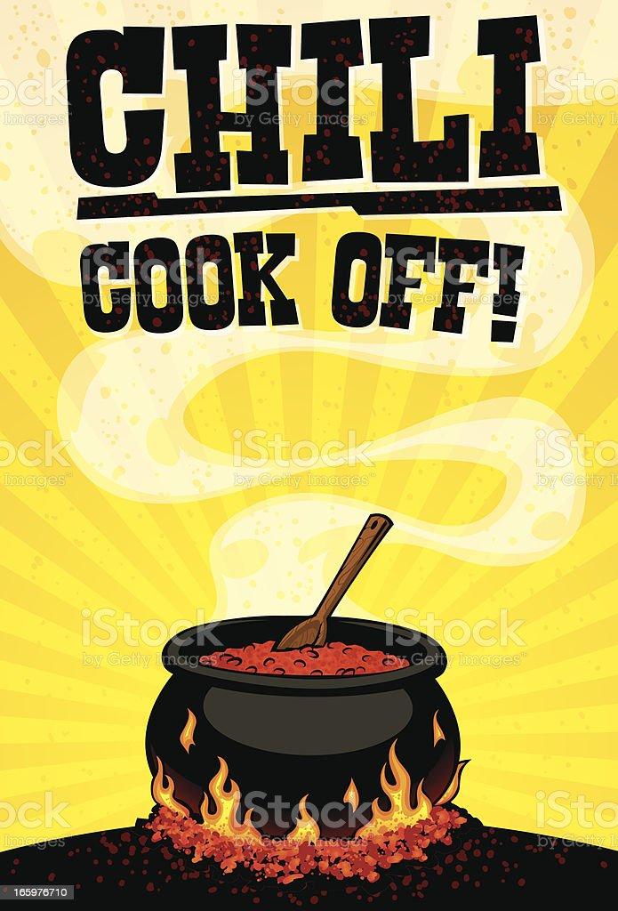 chili cook off flyer stock vector art 165976710 istock. Black Bedroom Furniture Sets. Home Design Ideas