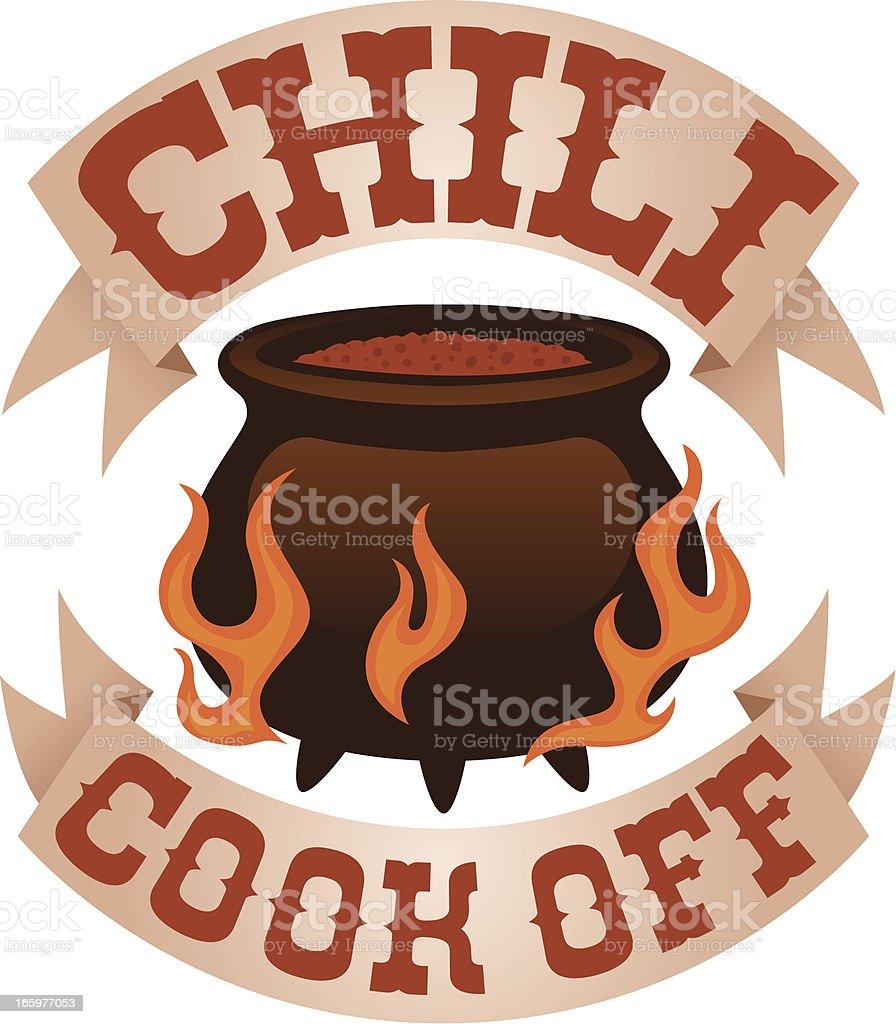 Clip Art Chili Cook Off Clipart chili cook off logo stock vector art 165977053 istock royalty free art