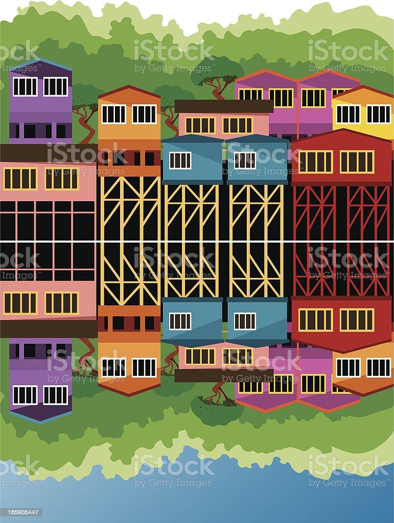 Chiloe House royalty-free stock vector art