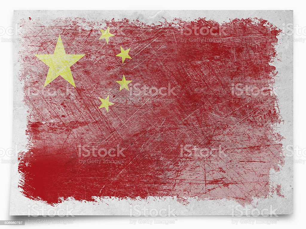 china Grunge flag royalty-free stock vector art