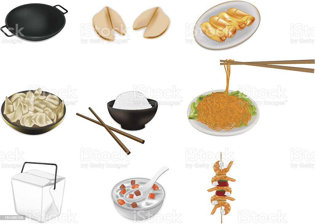 Chinese food vector illustration royalty-free stock vector art