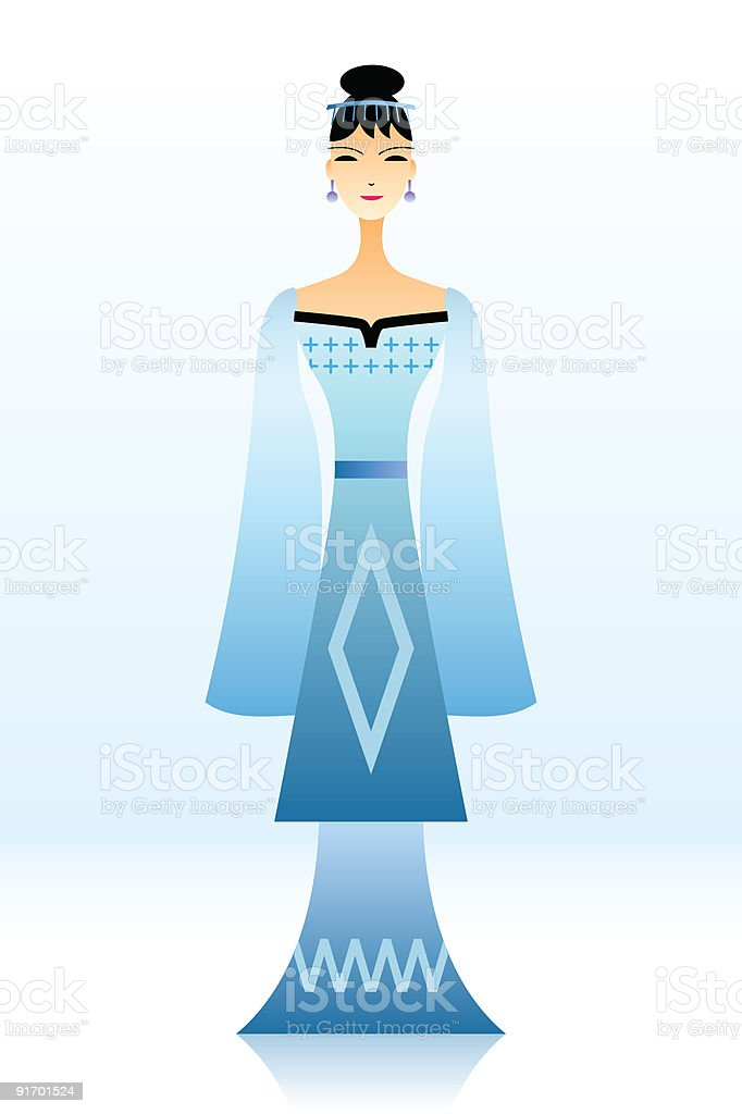 Chinese Girl royalty-free stock vector art