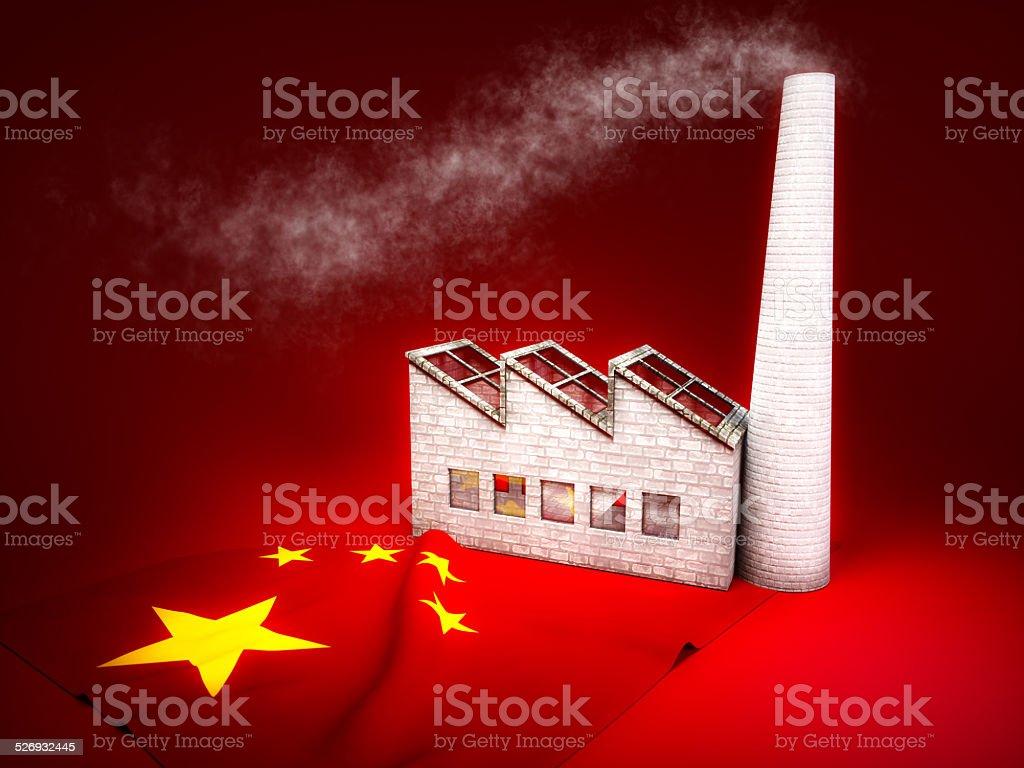 Chinese industry development vector art illustration