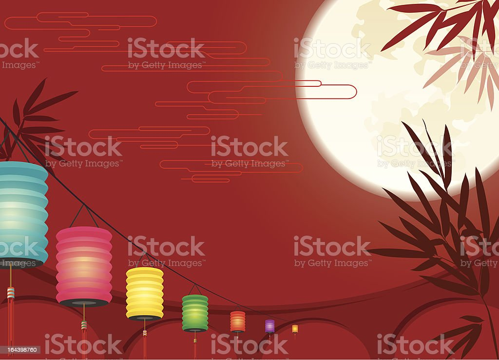 Chinese Mid-autumn Festival background royalty-free stock vector art
