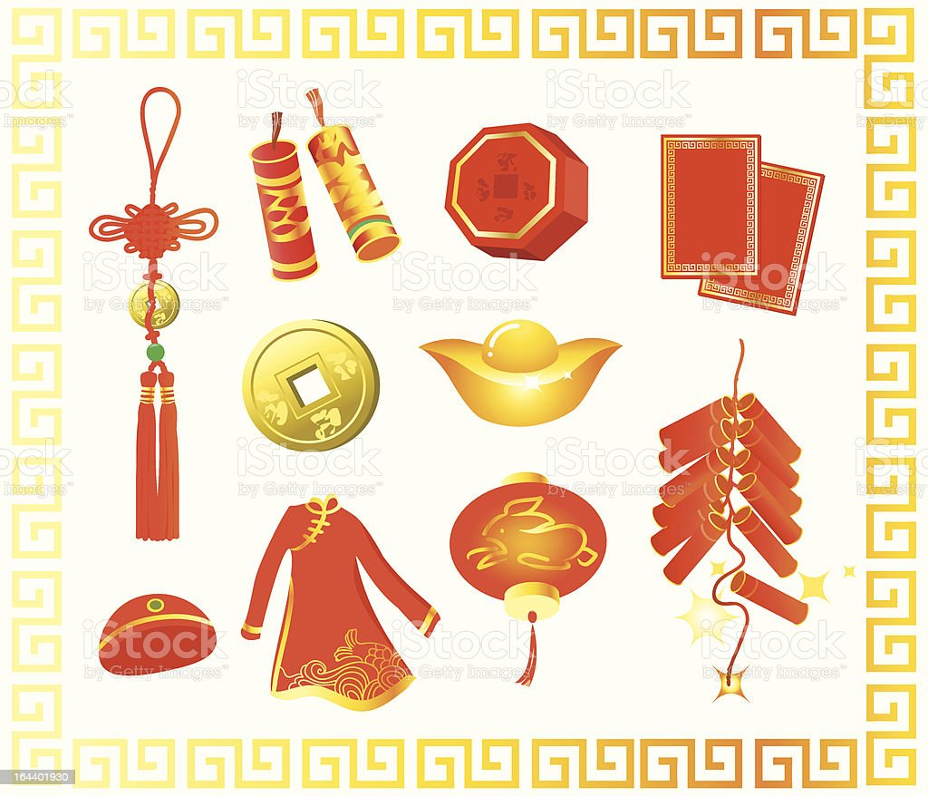 chinese new year gift royalty-free stock vector art