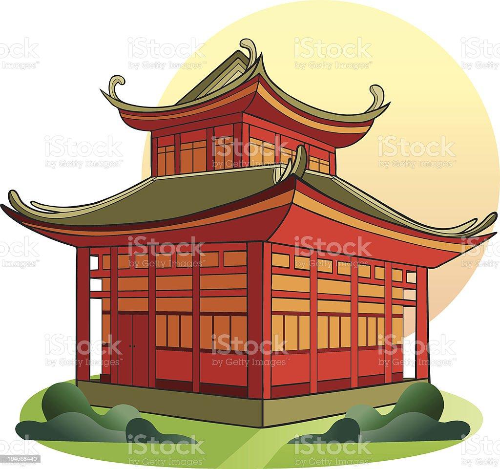 Chinese Pagoda vector art illustration