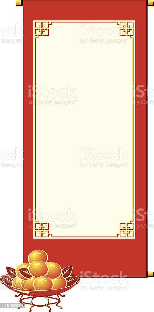 Chinese Scroll royalty-free stock vector art