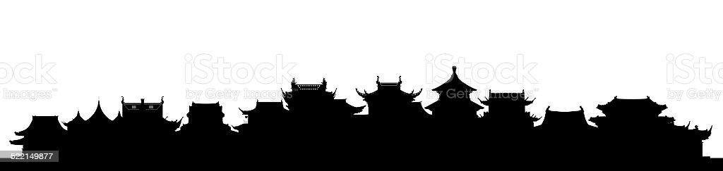 Chinese Skyline vector art illustration