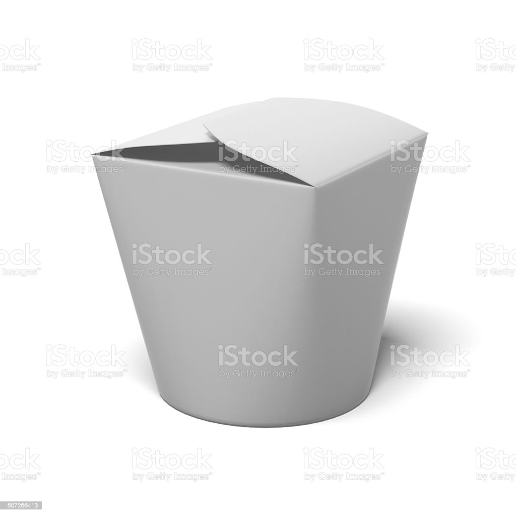 Chinese take-out box vector art illustration