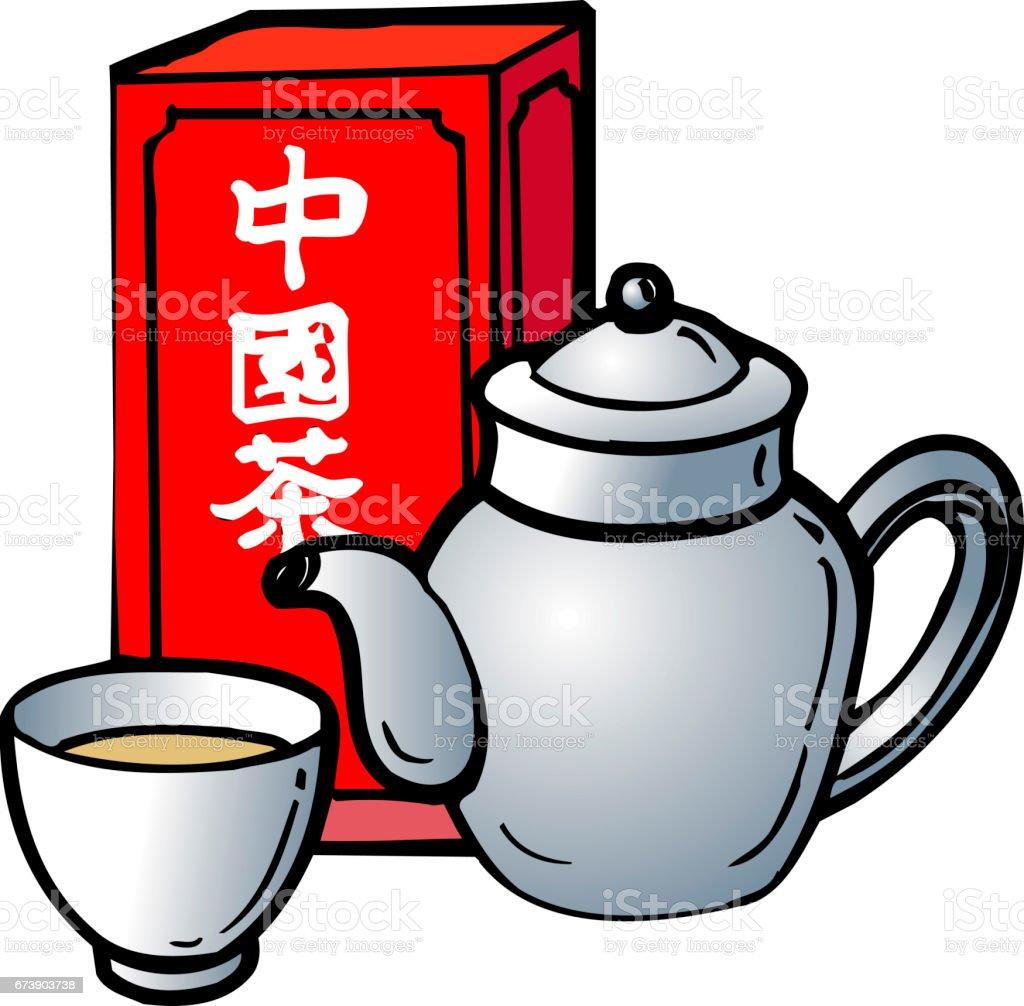 Chinese tea vector art illustration