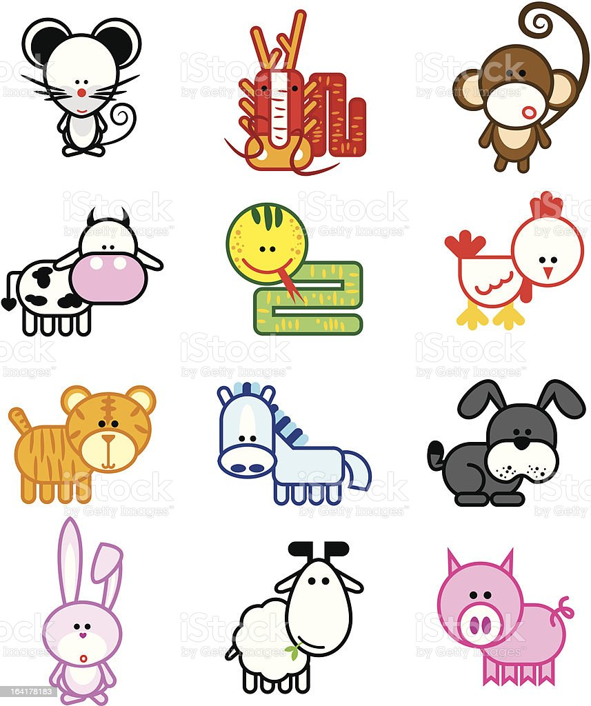 chinese zodiac royalty-free stock vector art