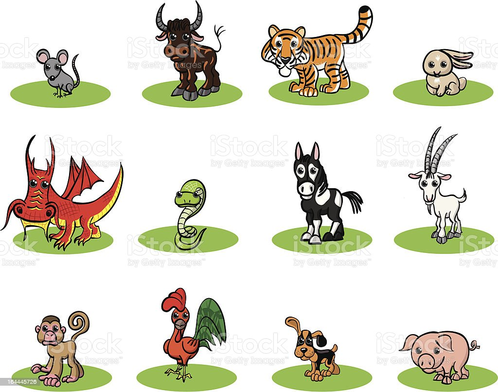 Chinese zodiac royalty-free stock vector art