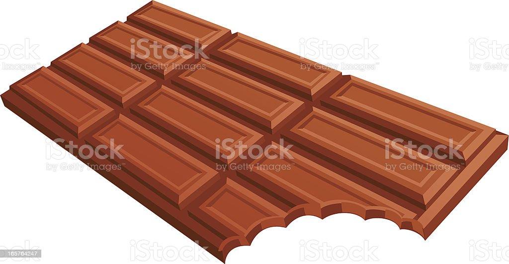 chocolate bar bite royalty-free stock vector art