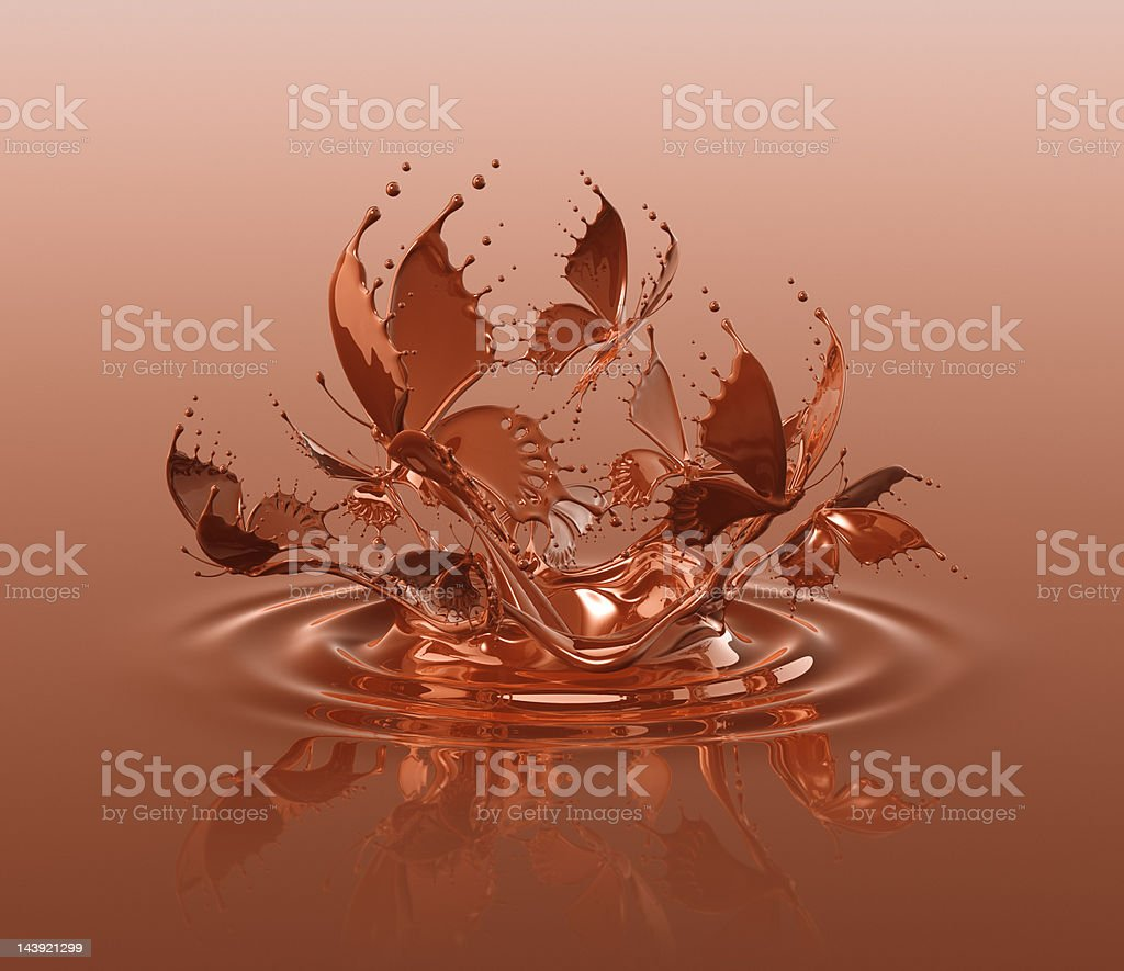Chocolate Butterflies Splash vector art illustration