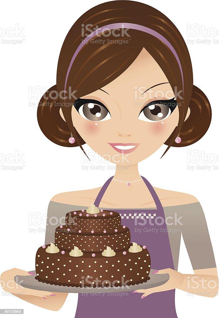 Pastel de Chocolate illustracion libre de derechos libre de derechos