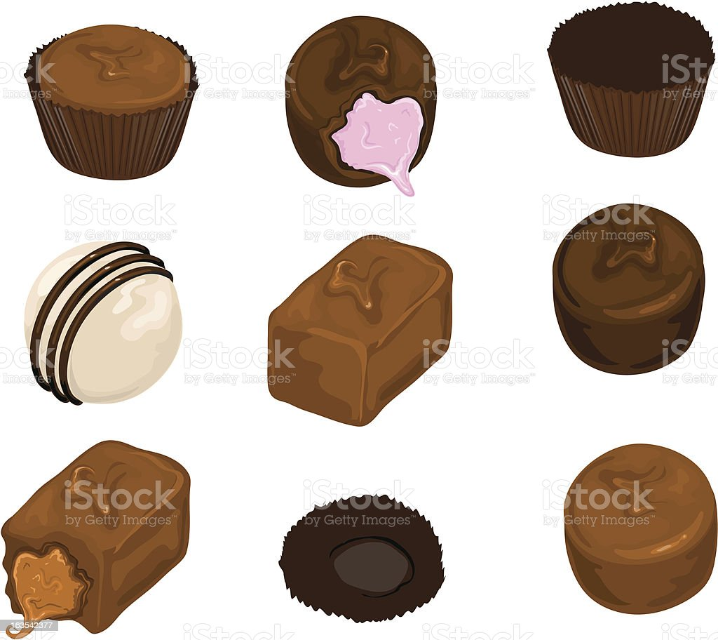 Chocolate Candies (vector) royalty-free stock vector art
