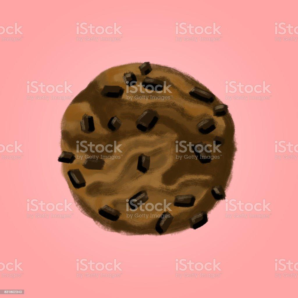 Chocolate Cookie vector art illustration
