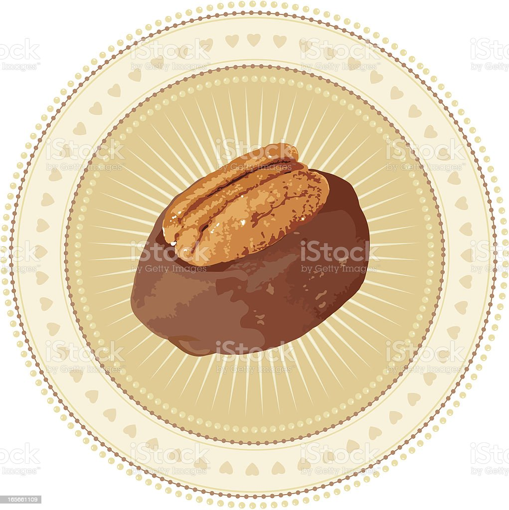 Chocolate Love Design Element vector art illustration