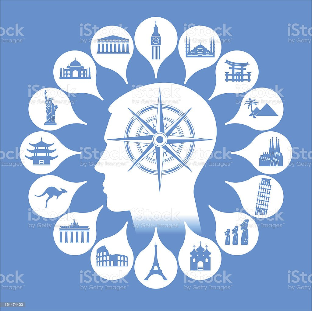 choice of direction тravel royalty-free stock vector art