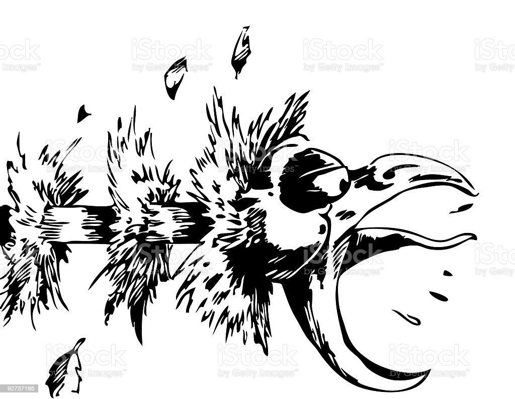 Choking Chicken royalty-free stock vector art