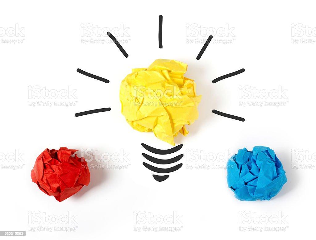 Choose the best idea vector art illustration