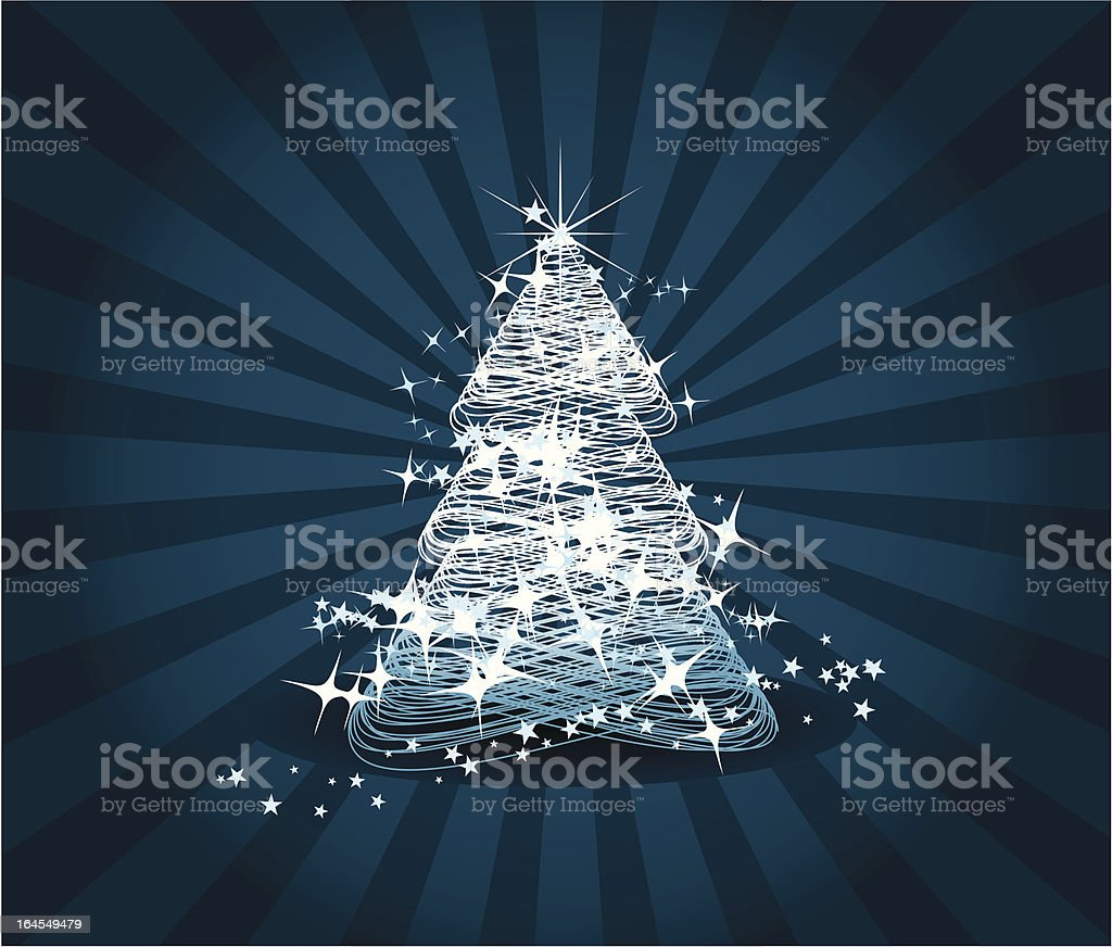 Christams tree vector art illustration