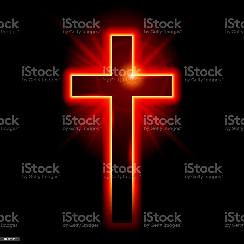Christian symbol of the crucifix vector art illustration