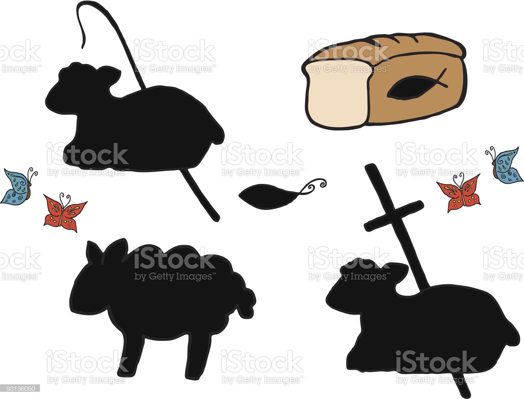 christian symbols royalty-free stock vector art