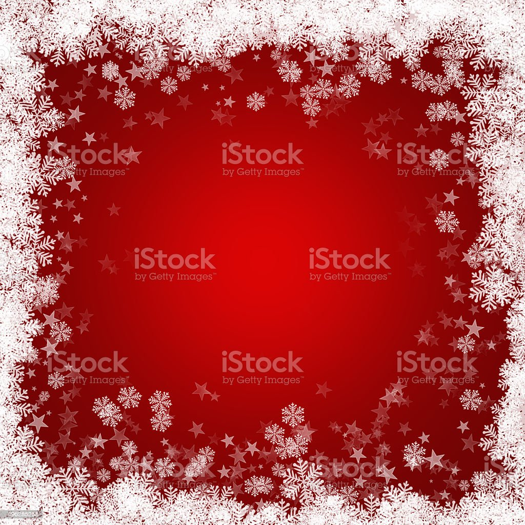 Christmas background of snowflakes and stars vector art illustration