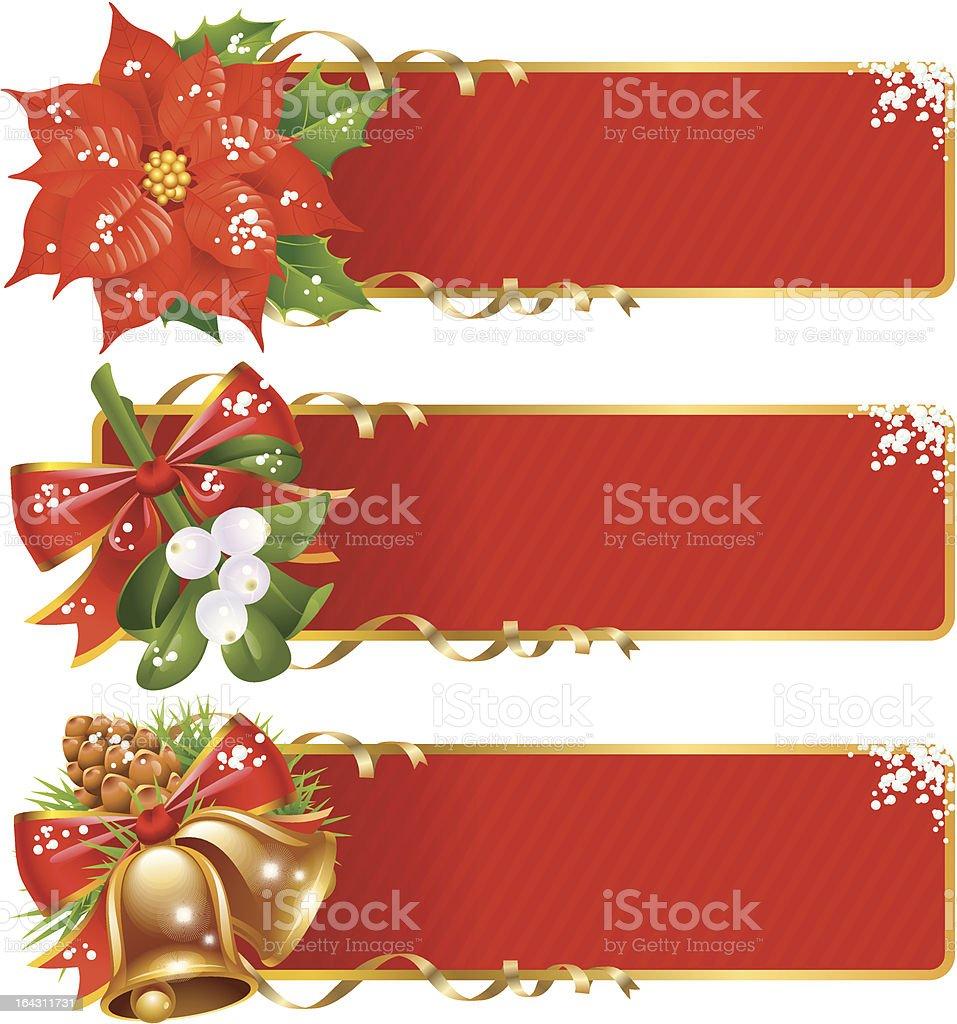 Christmas background set royalty-free stock vector art