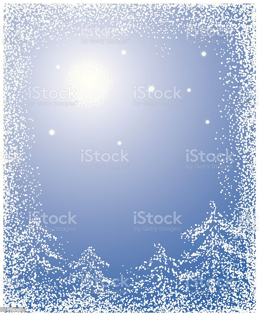 Christmas background with a snow, vector royalty-free stock vector art