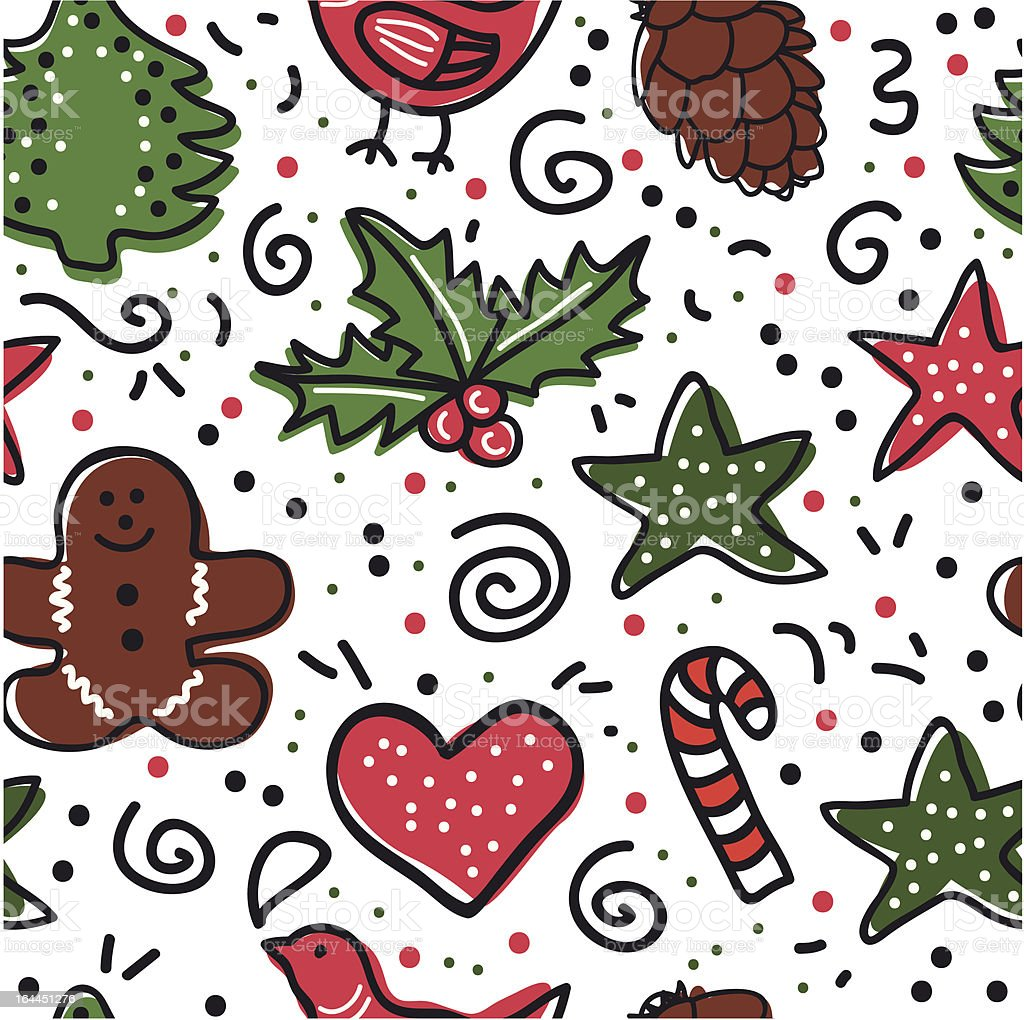 Christmas baking background royalty-free stock vector art