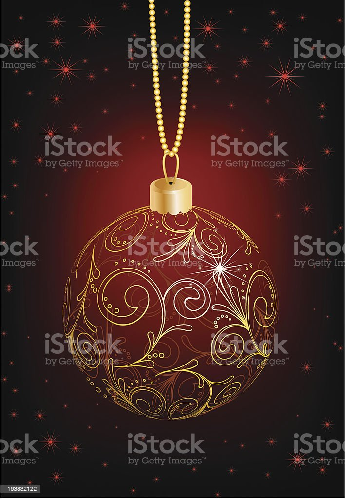 Christmas ball royalty-free stock vector art