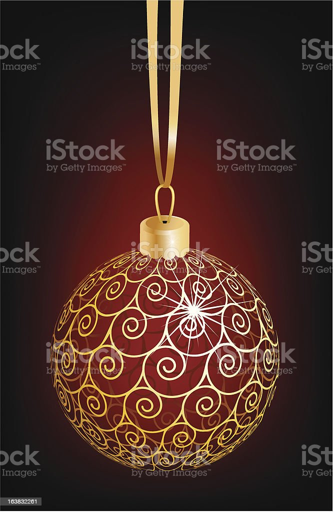 Christmas ball royalty-free stock vector art