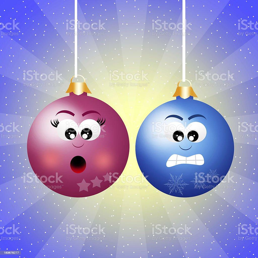 Christmas balls c royalty-free stock vector art