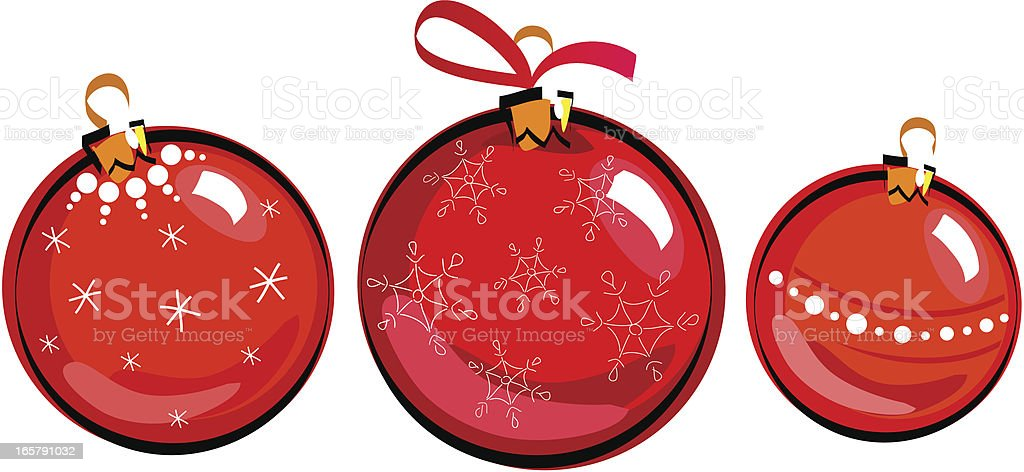 Christmas balls, drawing royalty-free stock vector art