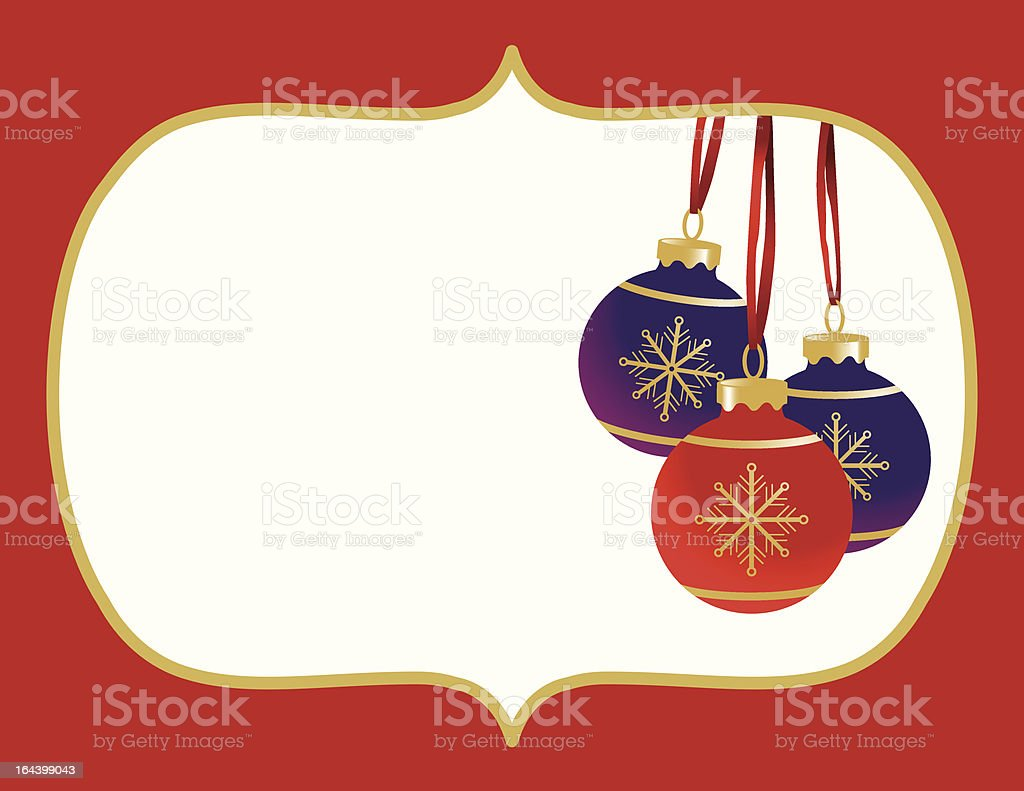 Christmas Balls Frame Banner royalty-free stock vector art