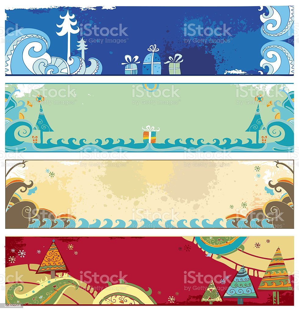Christmas banners with copy space royalty-free stock vector art