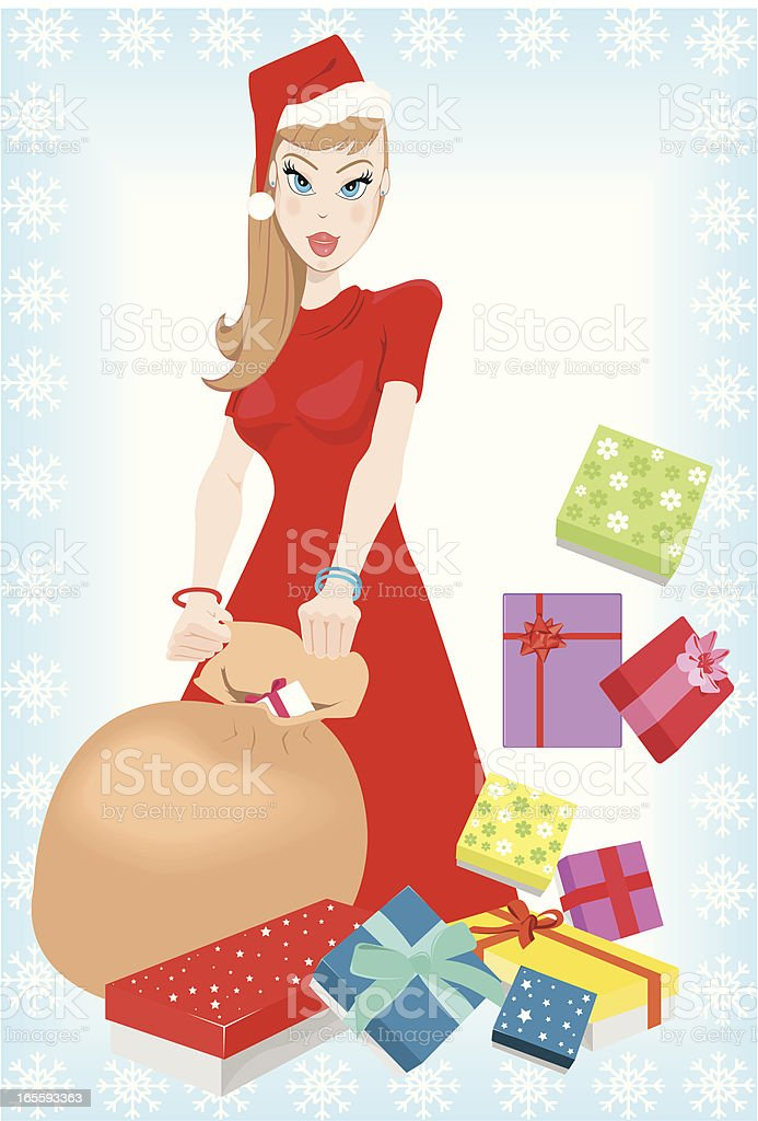 Christmas Box royalty-free stock vector art